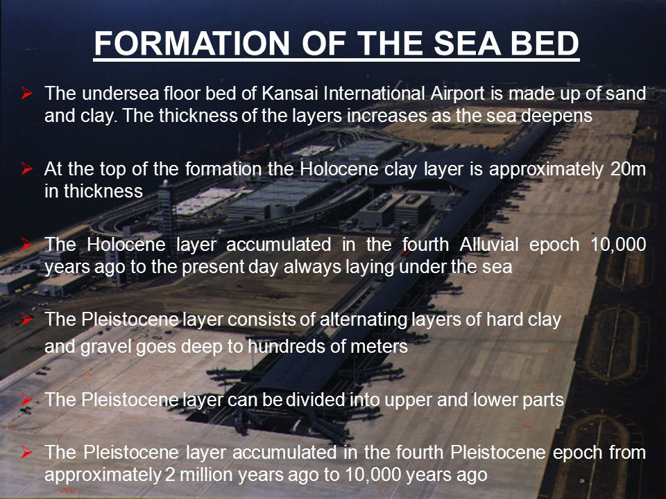 FORMATION OF THE SEA BED
