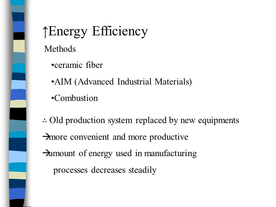 ↑Energy Efficiency Methods ceramic fiber