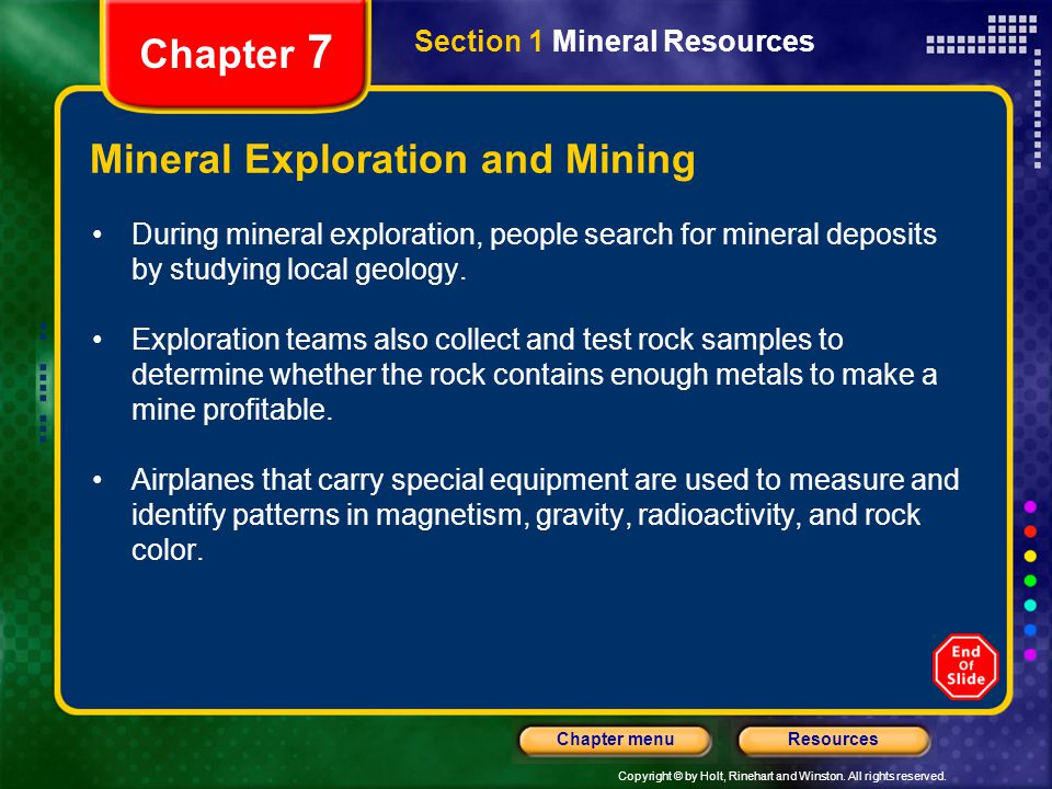 Mineral Exploration and Mining