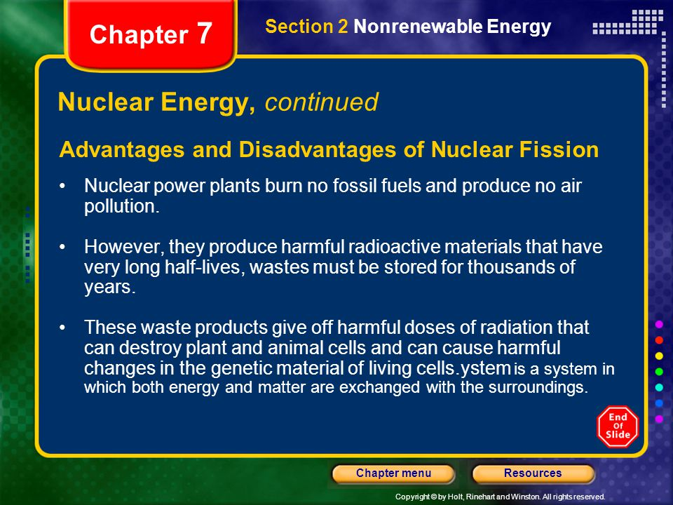 Nuclear Energy, continued