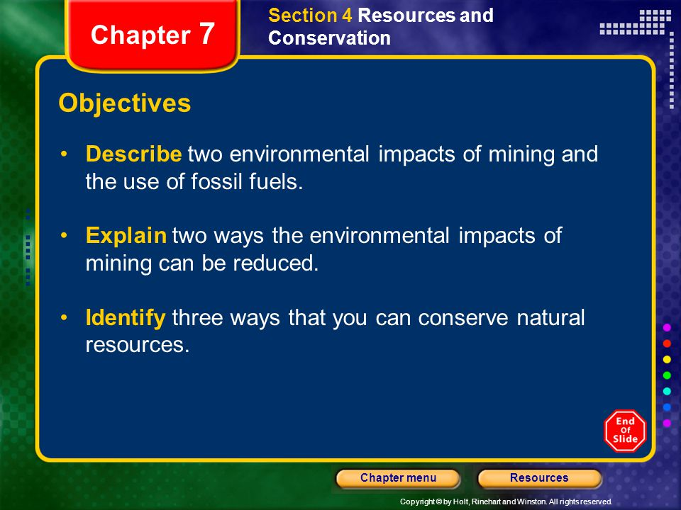 Section 4 Resources and Conservation
