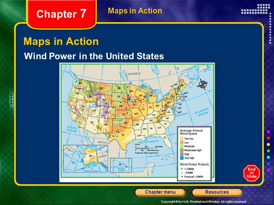 Chapter 7 Maps in Action Wind Power in the United States