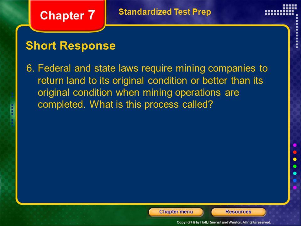 Chapter 7 Short Response