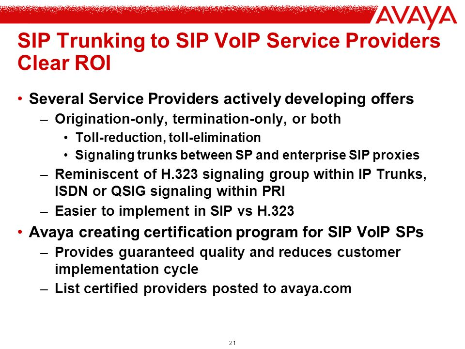 SIP Trunking to SIP VoIP Service Providers Clear ROI