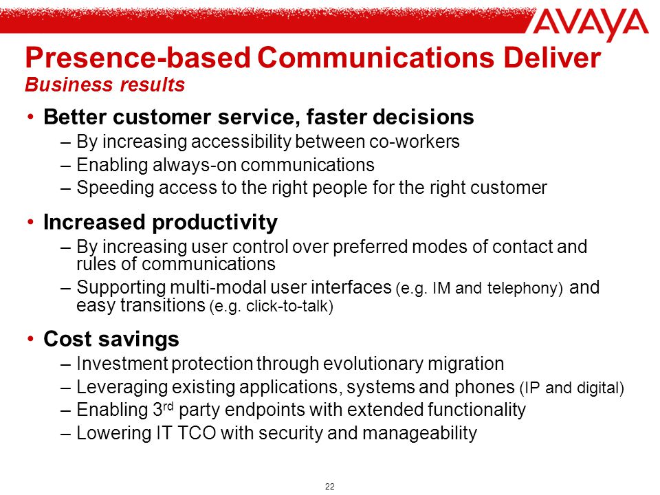 Presence-based Communications Deliver Business results