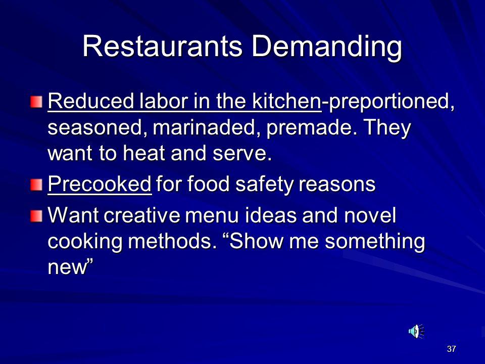 Restaurants Demanding