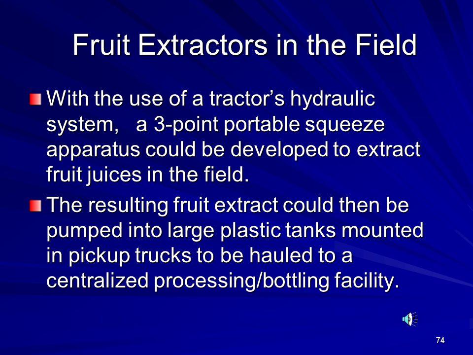 Fruit Extractors in the Field