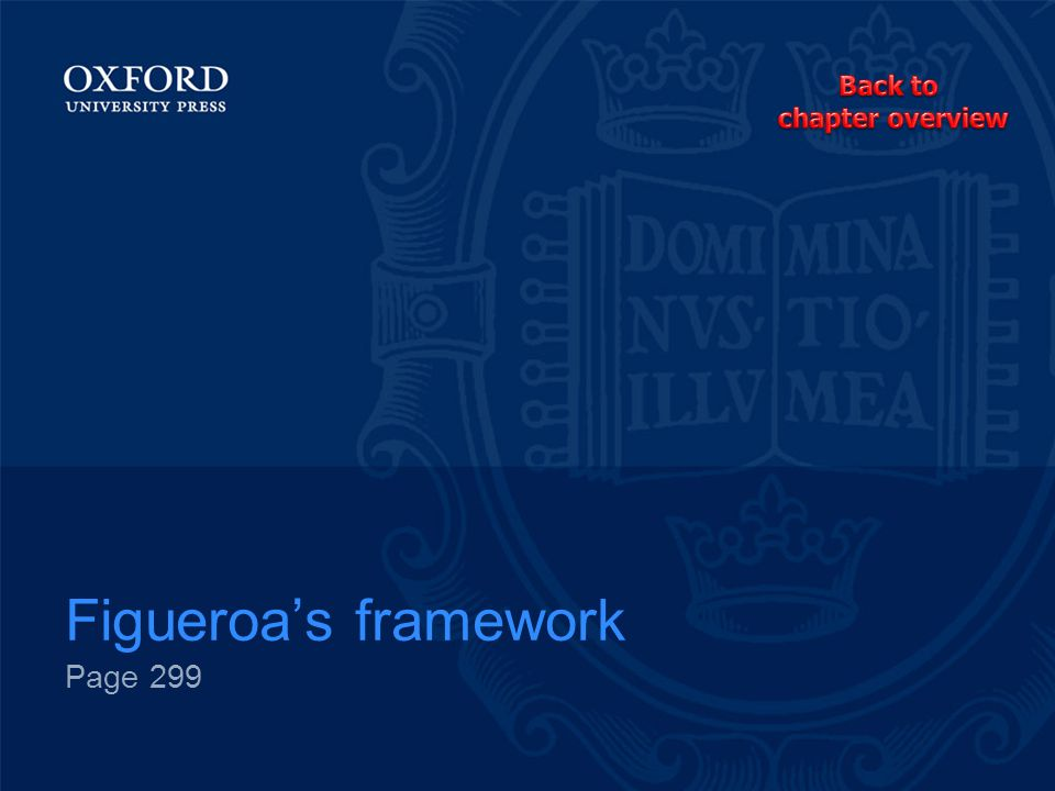 Back to chapter overview Figueroa's framework Page 299