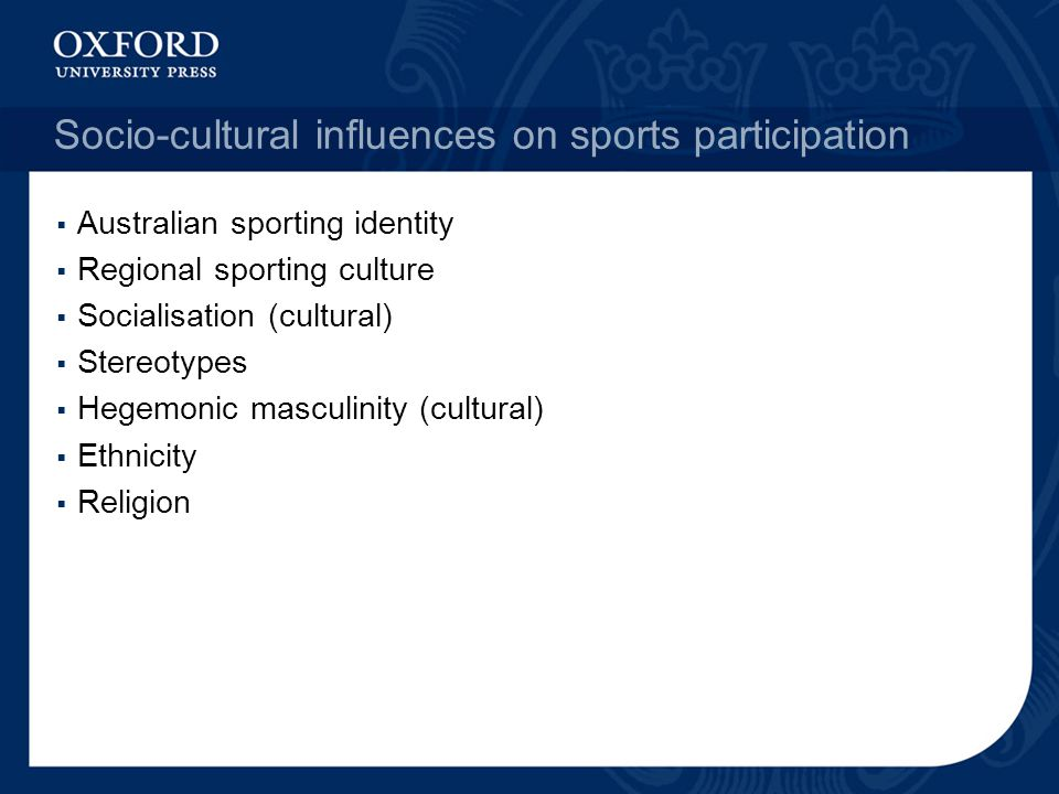 Socio-cultural influences on sports participation