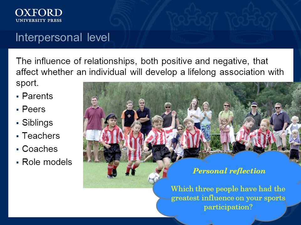 'sports participation is directly affected by Barriers to sports and physical activity participation :  on mixed gender sports and dress code requirements,  those directly affecting a particular.