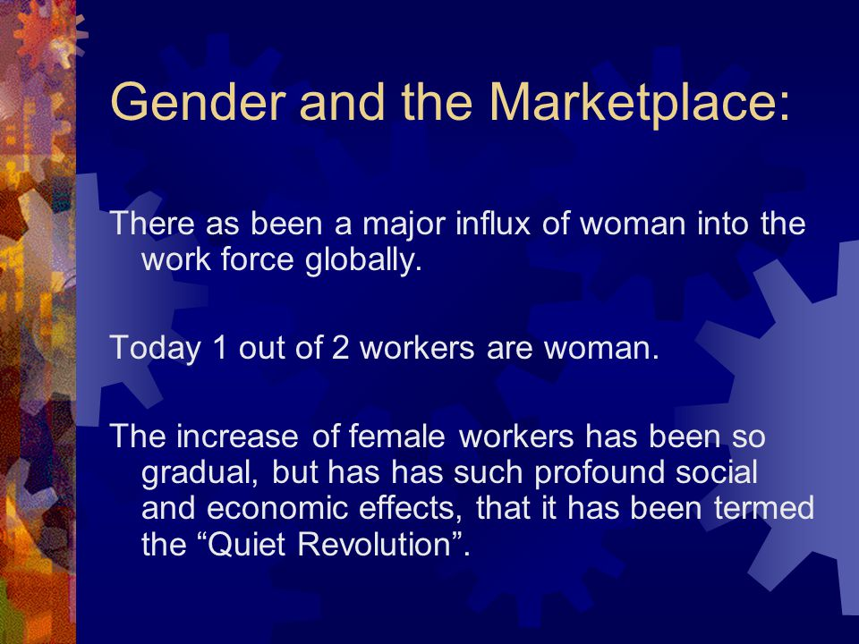Gender and the Marketplace: