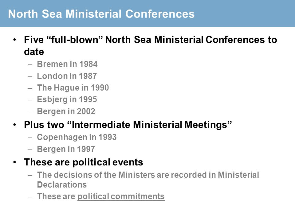 North Sea Ministerial Conferences