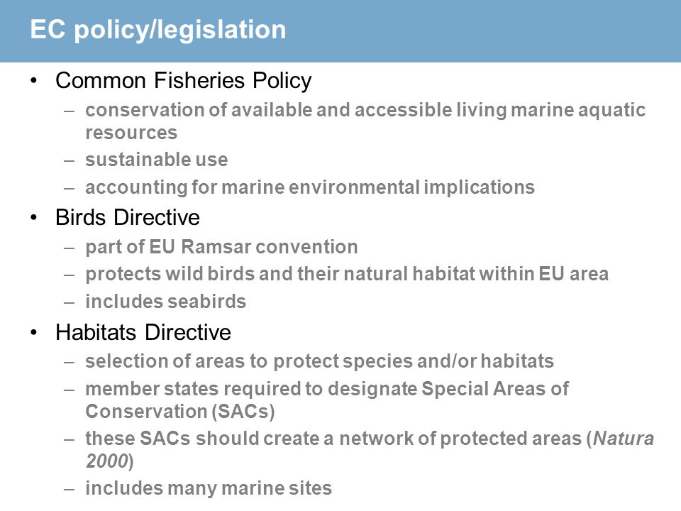 EC policy/legislation