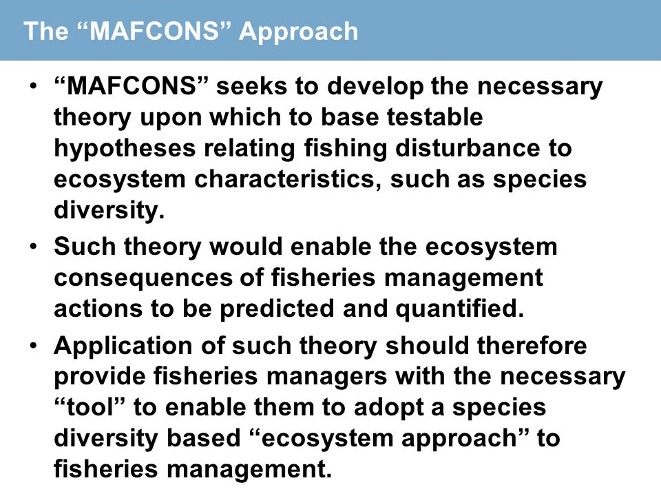The MAFCONS Approach