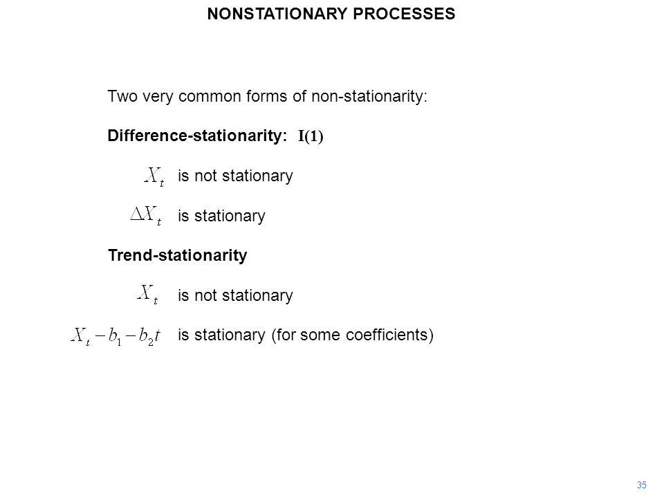 NONSTATIONARY PROCESSES