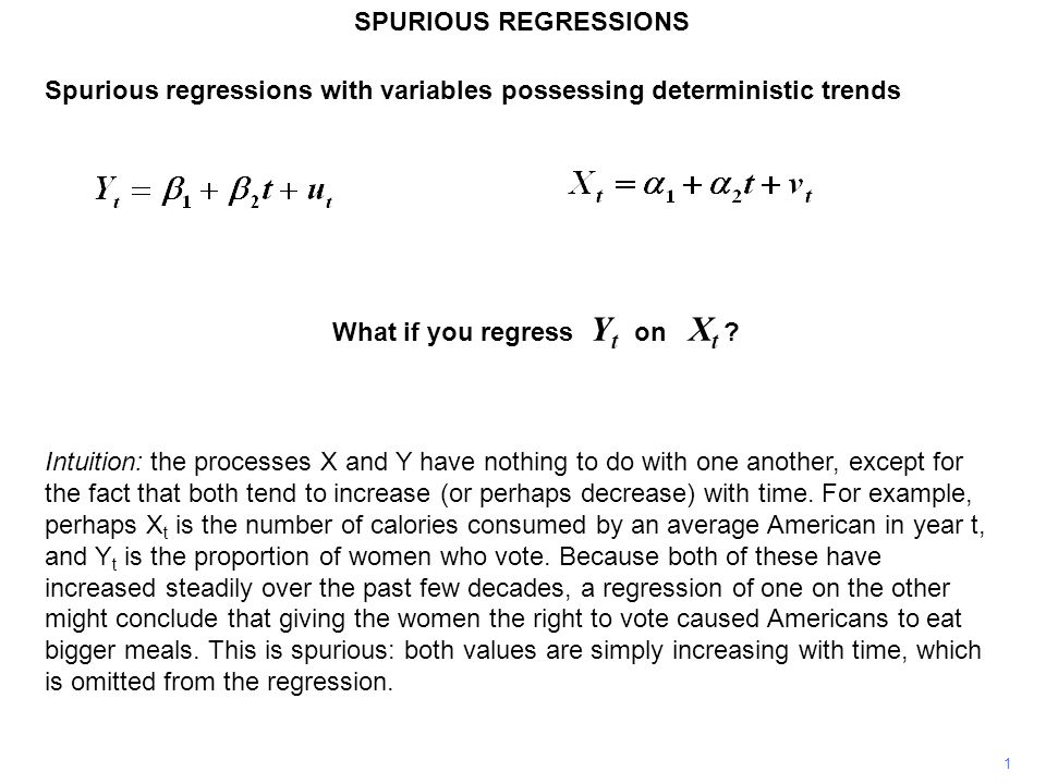 Spurious regressions with variables possessing deterministic trends