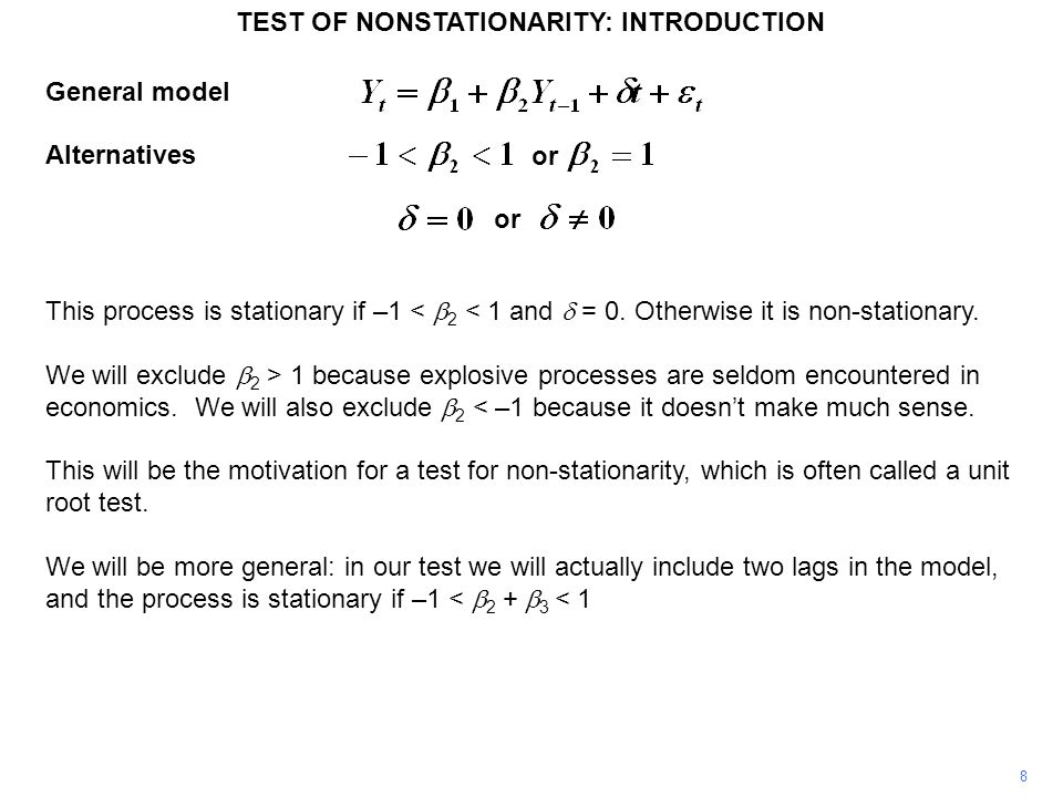 TEST OF NONSTATIONARITY: INTRODUCTION