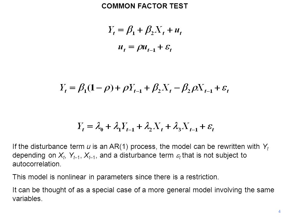 This model is nonlinear in parameters since there is a restriction.