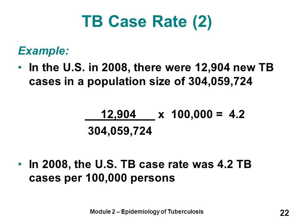 Module 2 – Epidemiology of Tuberculosis