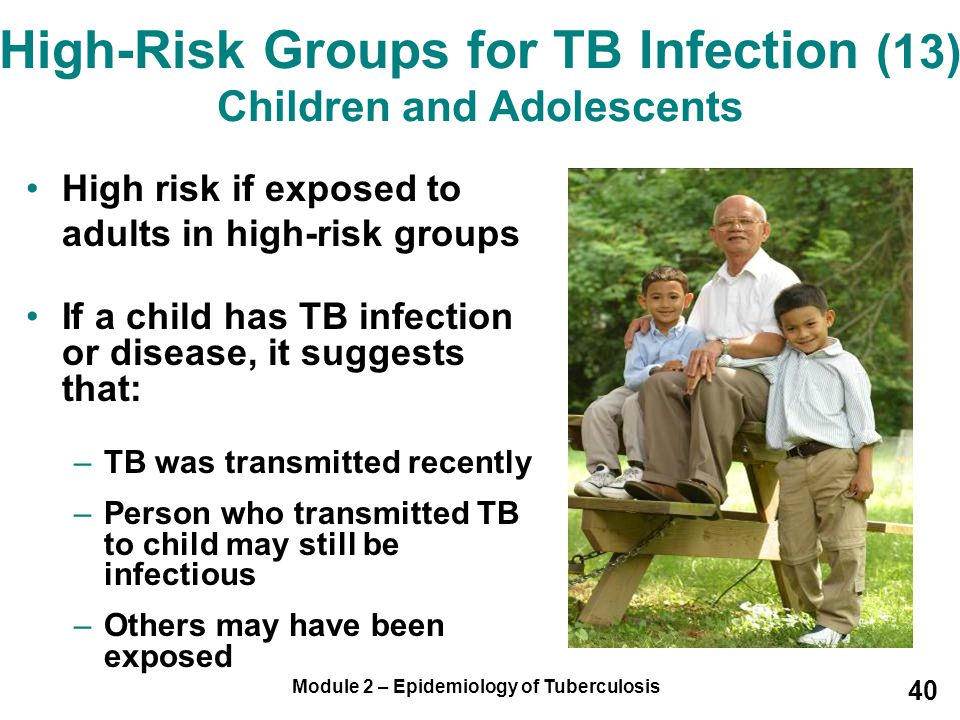 High-Risk Groups for TB Infection (13) Children and Adolescents