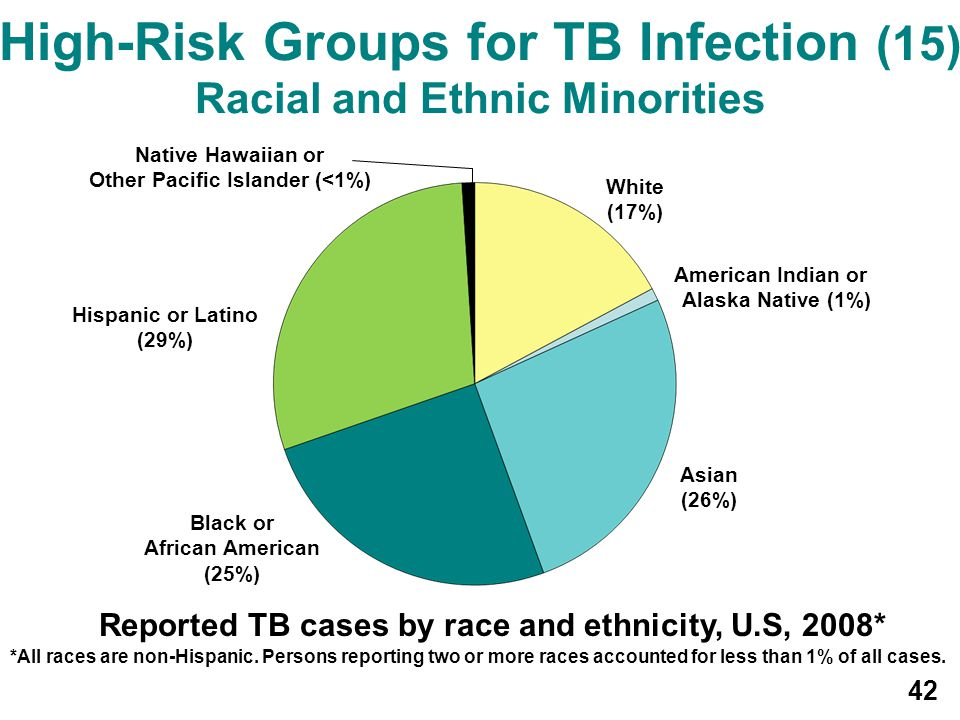 High-Risk Groups for TB Infection (15) Racial and Ethnic Minorities