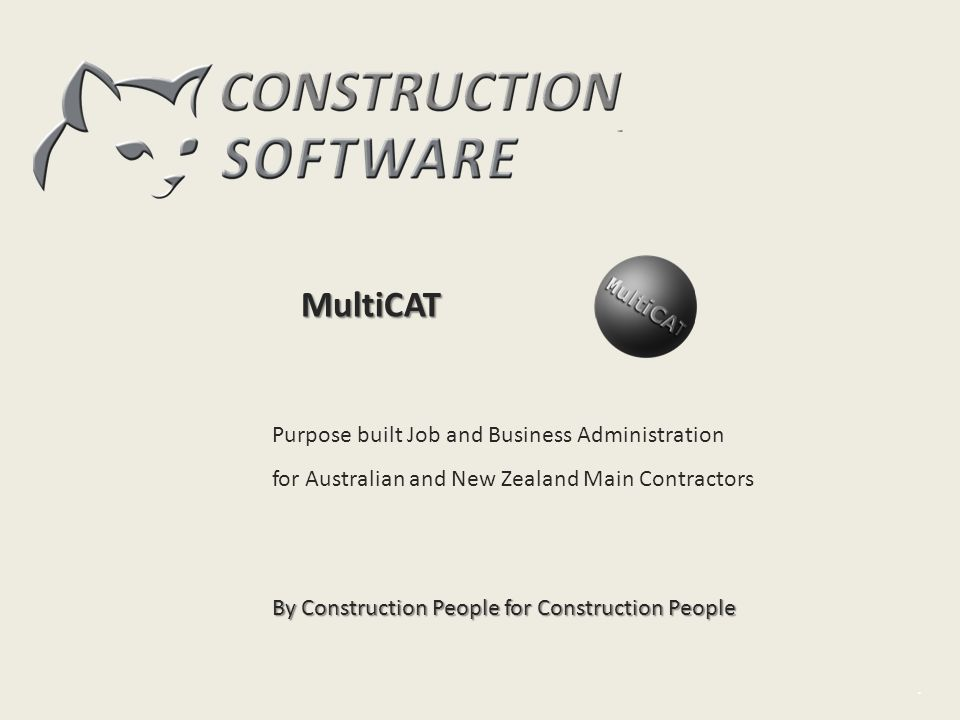 MultiCAT Intro Purpose built Job and Business Administration