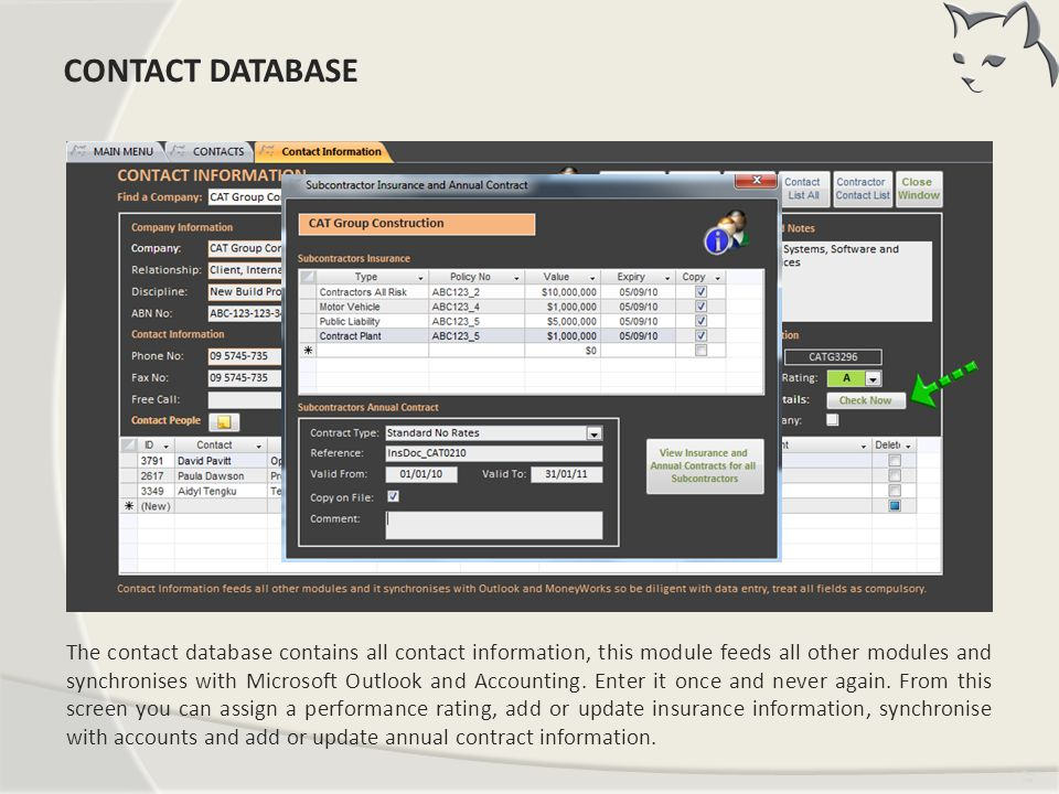 CONTACTS CONTACT DATABASE