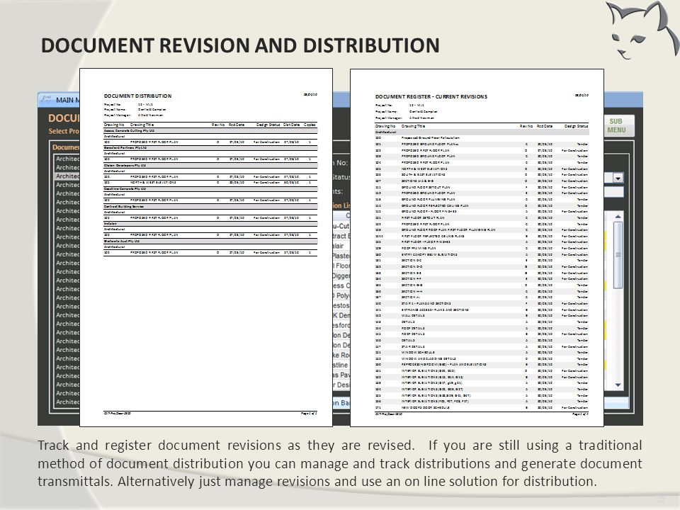 Document Revision and Distribution