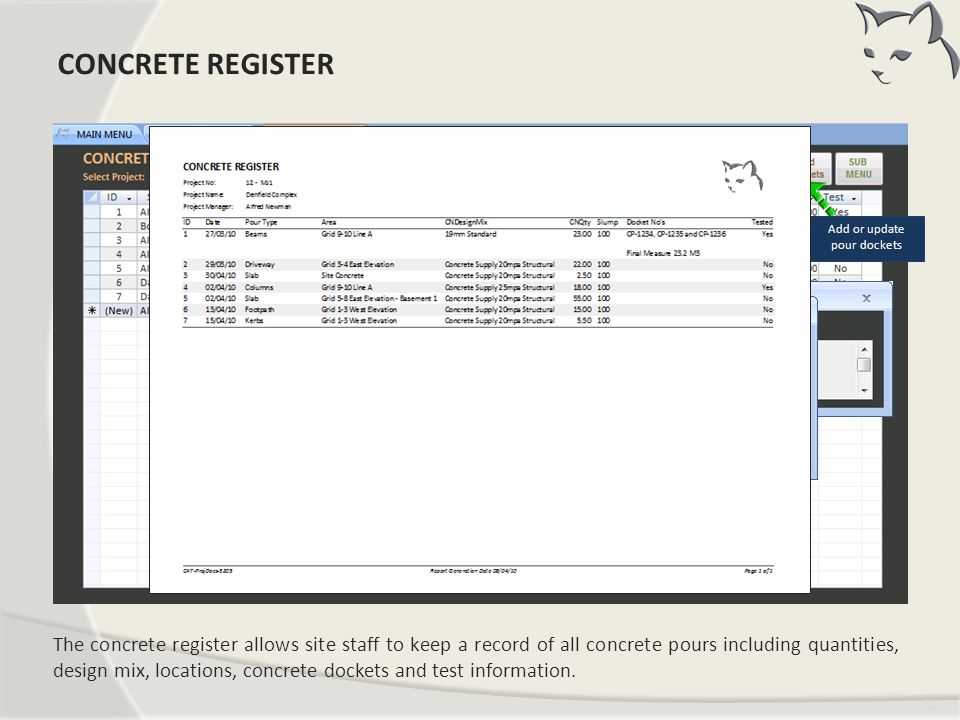 Concrete Register CONCRETE REGISTER