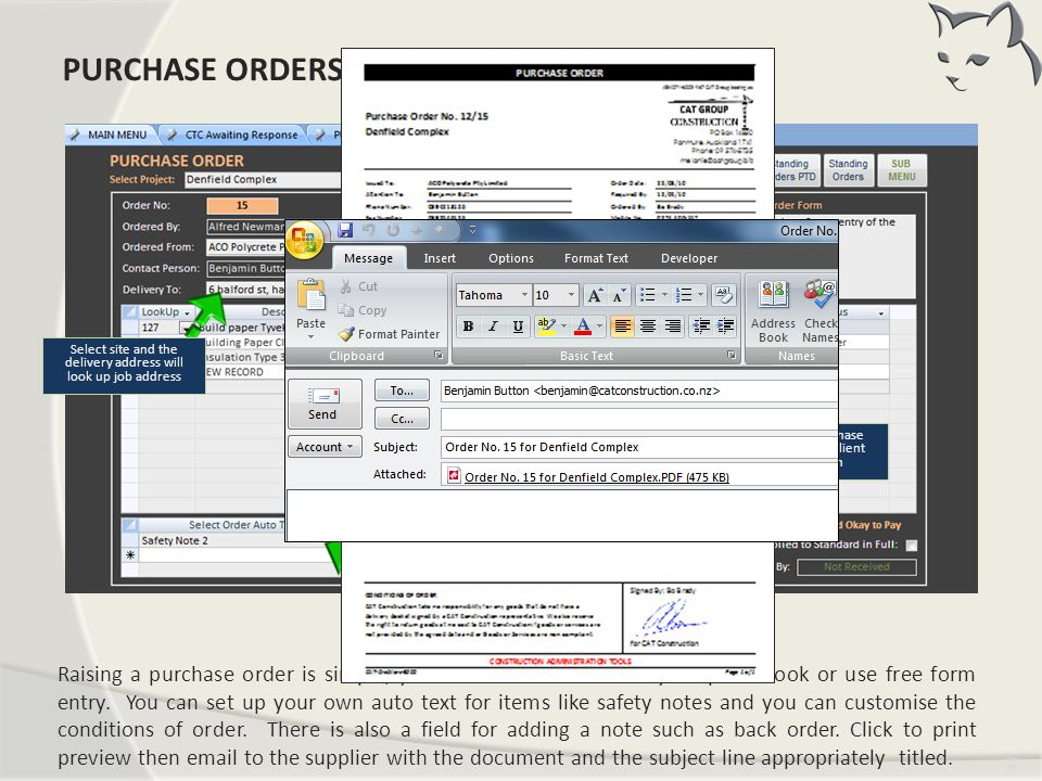 Purchase Orders PURCHASE ORDERS