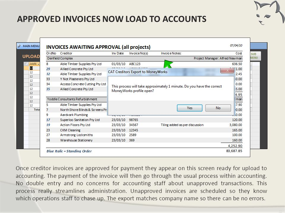 Load Creditors To Accounts