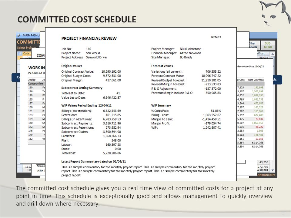 Committed Cost Schedule