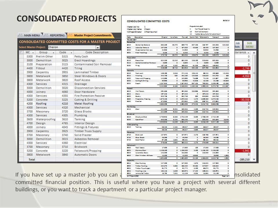 Consolidated Projects