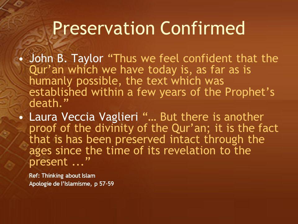 Preservation Confirmed