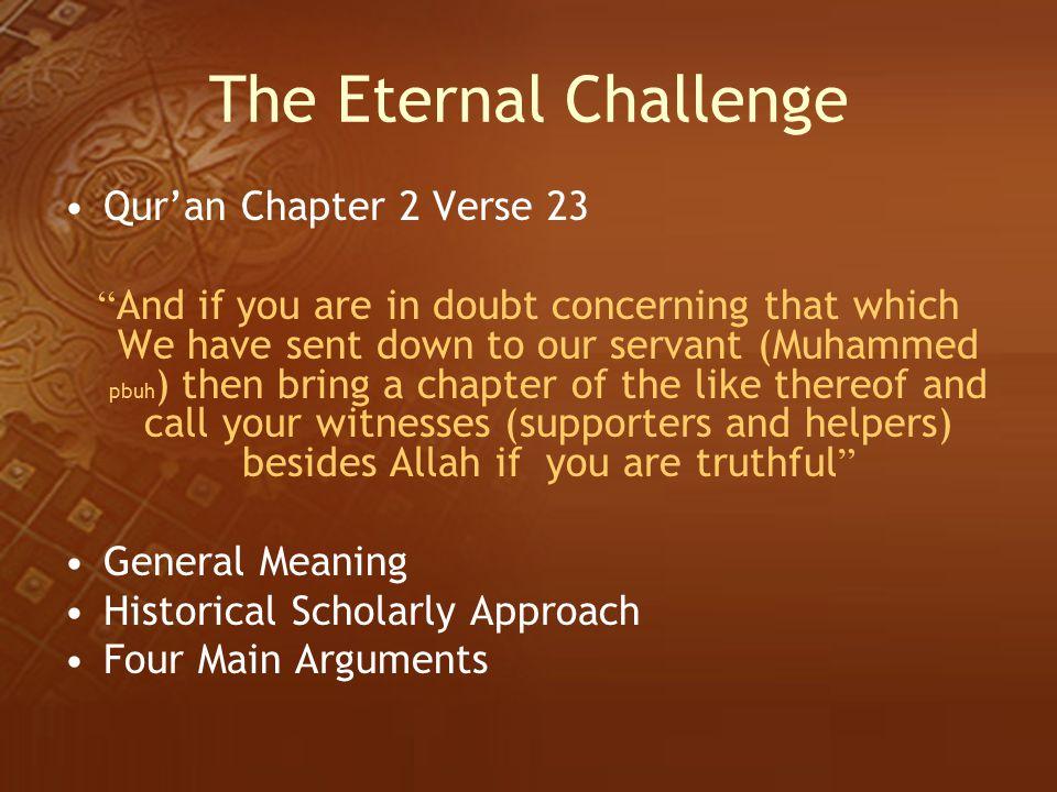 The Eternal Challenge Qur'an Chapter 2 Verse 23