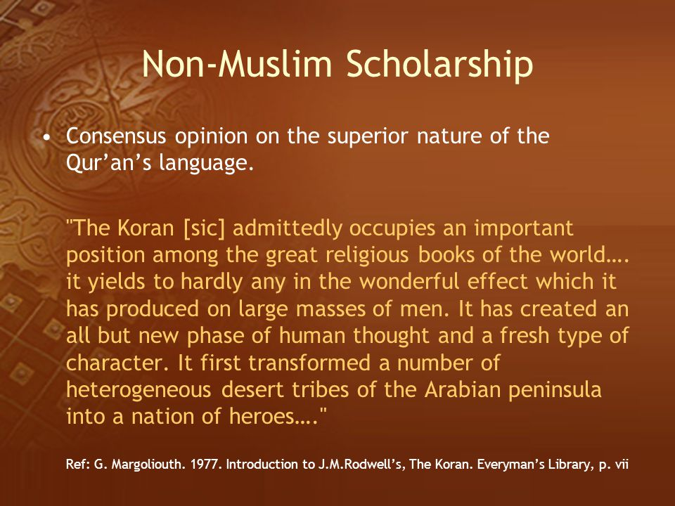 Non-Muslim Scholarship