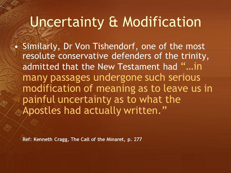 Uncertainty & Modification