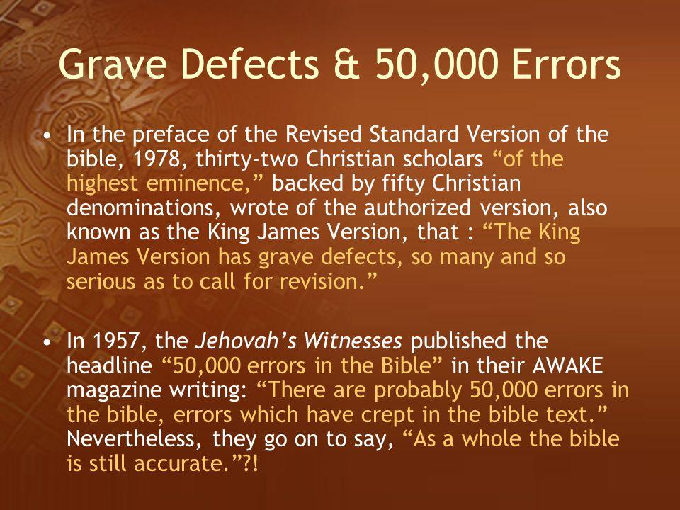 Grave Defects & 50,000 Errors