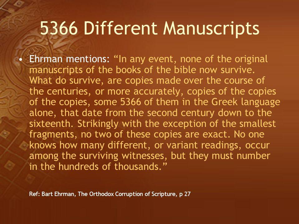 5366 Different Manuscripts