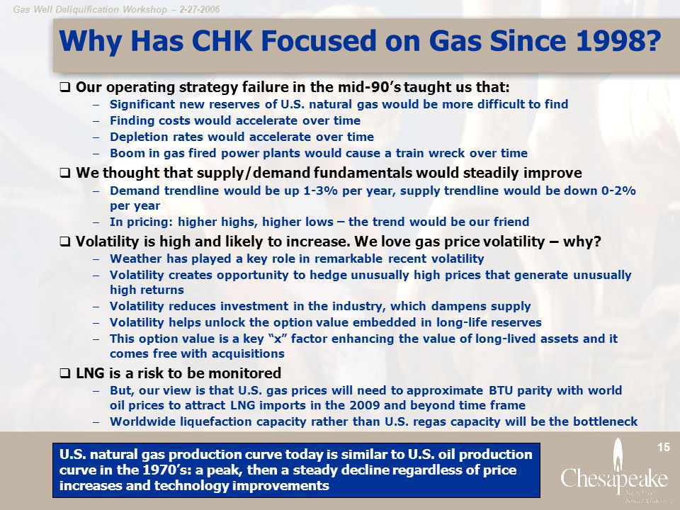 Why Has CHK Focused on Gas Since 1998
