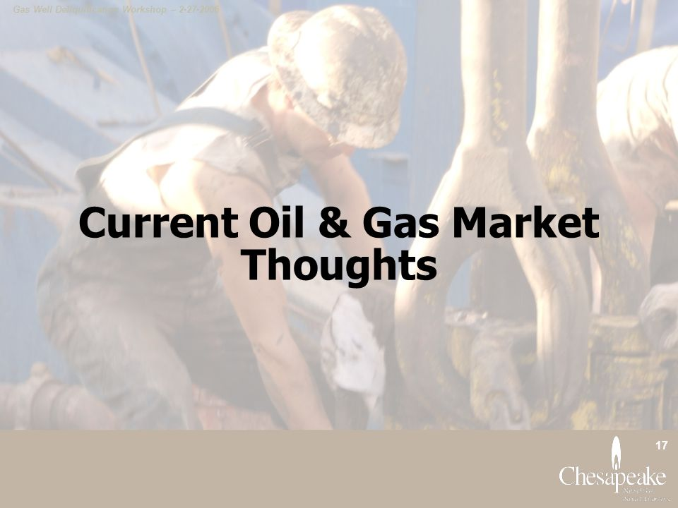 Current Oil & Gas Market Thoughts