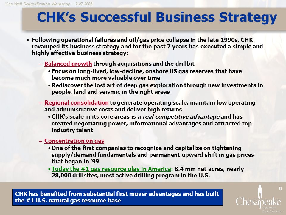 CHK's Successful Business Strategy