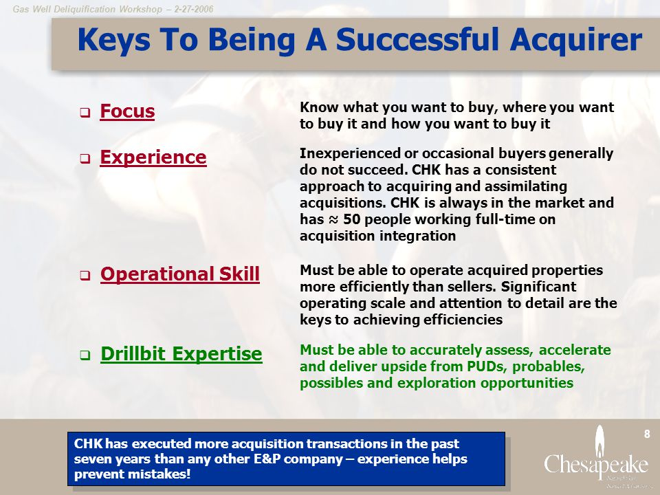 Keys To Being A Successful Acquirer
