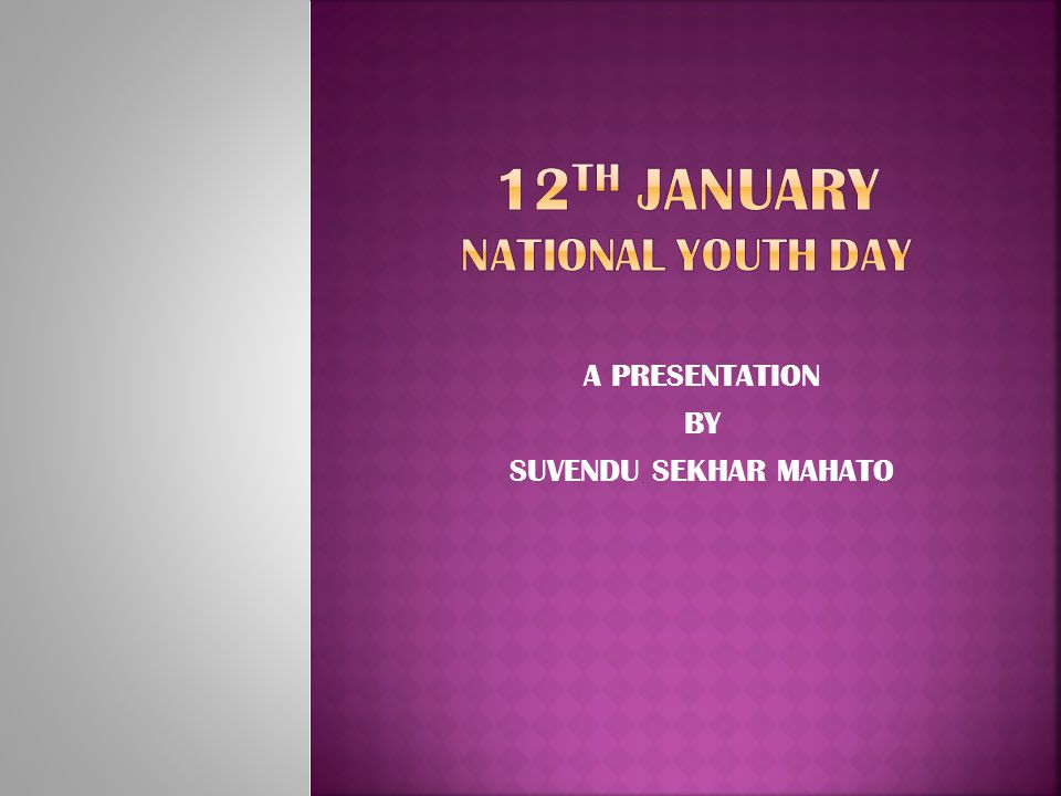 12th January national youth day