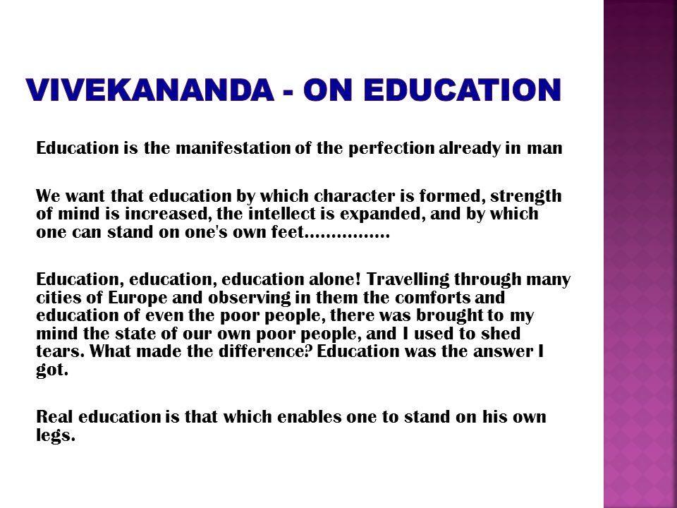VIVEKANANDA - on education