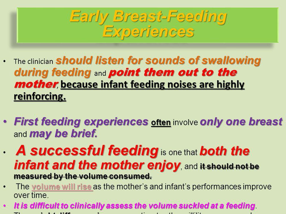 Early Breast-Feeding Experiences