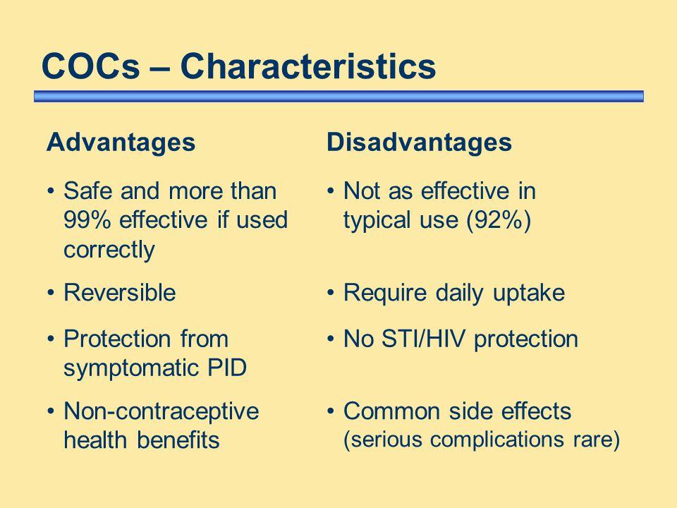 COCs – Characteristics