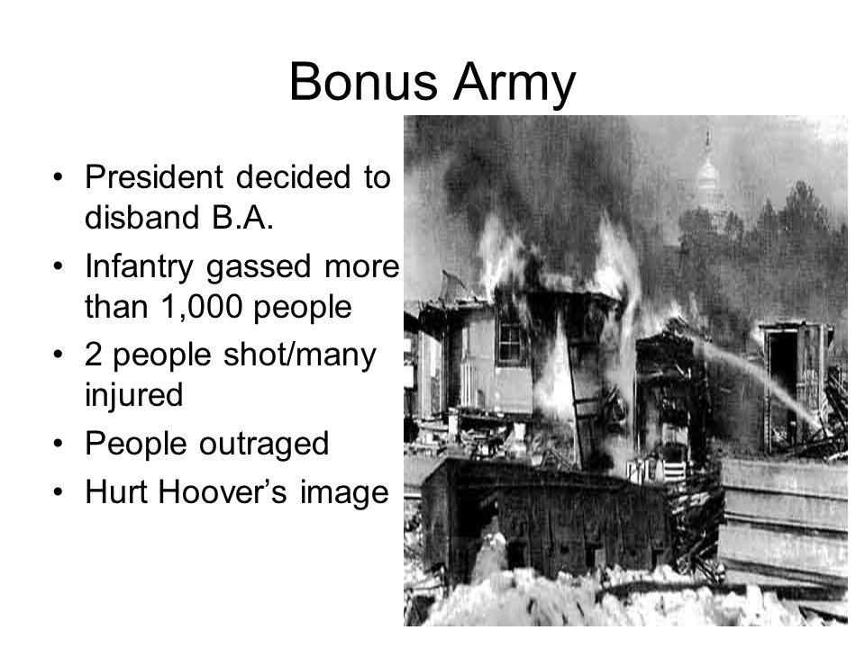 Bonus Army President decided to disband B.A.