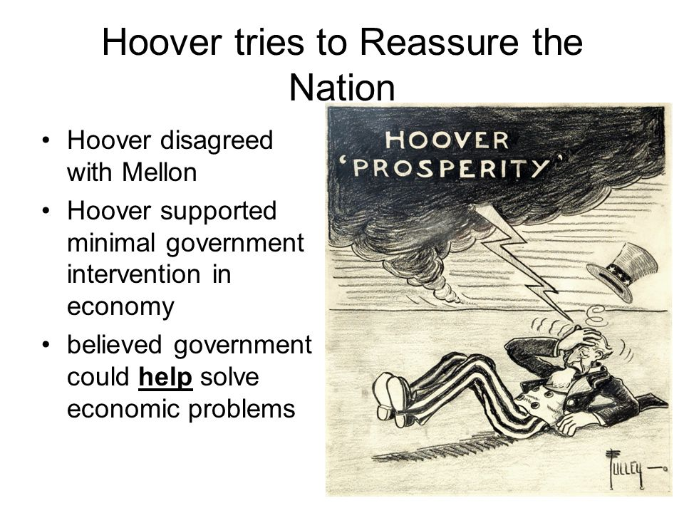 Hoover tries to Reassure the Nation
