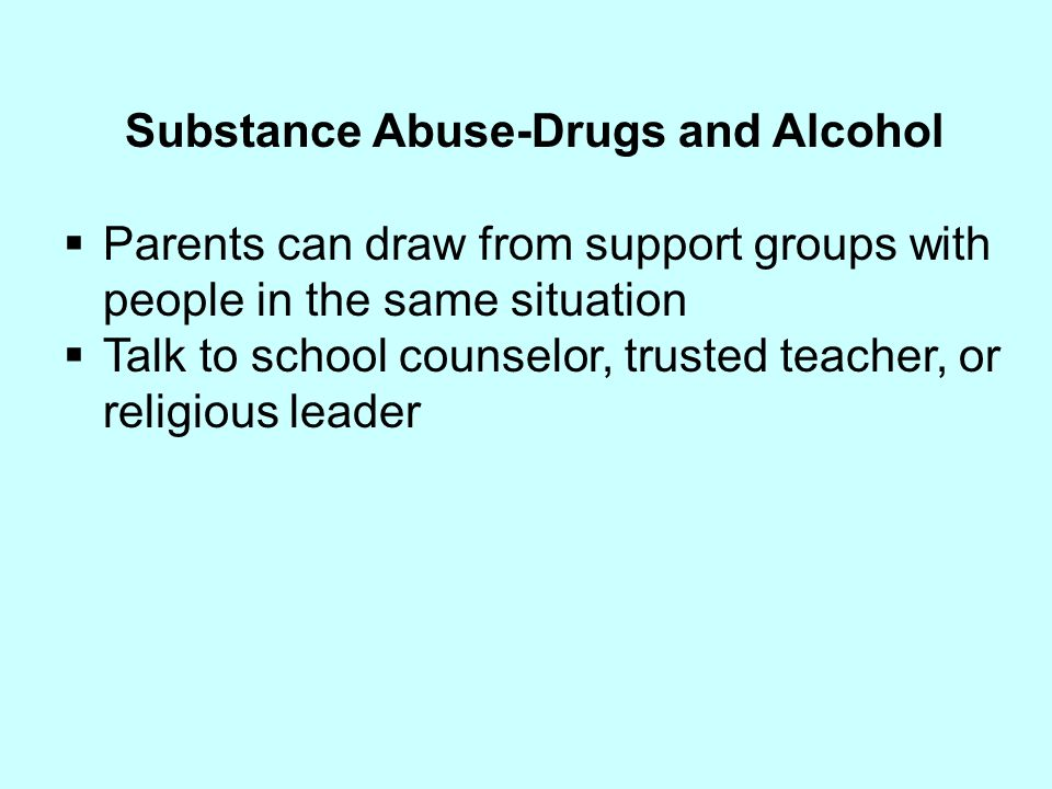 Substance Abuse-Drugs and Alcohol